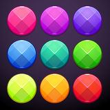 Faceted round buttons Royalty Free Stock Photography