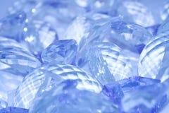 Facetes bleus Photos stock