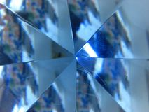 Facets of light blue crystal stock photo