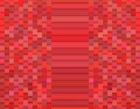 Facetted abstrakt 3d mönstrar i rosa rött Arkivfoton