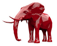 Facettierter roter Elefant Lizenzfreie Stockfotografie