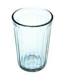 Facettiertes Glas getrennt auf weißem Hintergrund Lizenzfreie Stockfotografie