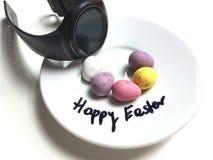 Facewatch doce do relógio dos ovos da páscoa felizes Imagem de Stock