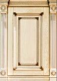 Fachada adornada de madera de los muebles Fotografía de archivo libre de regalías