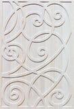 Fachada adornada de madera de los muebles Foto de archivo