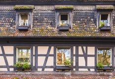 Fachada Alsatian de la casa Imagen de archivo libre de regalías