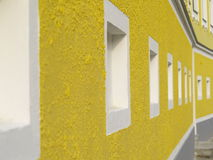 Fachada amarilla Fotografía de archivo