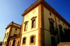 Fachada antiga da casa de campo, Italy foto de stock