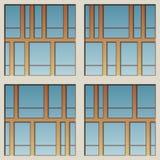 Fachada arquitectónica ilustración del vector