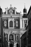 Fachada barroco da igreja Foto de Stock Royalty Free