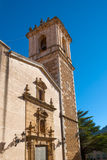 Fachada Benasal da igreja de Benassal em Maestrazgo Castellon Foto de Stock