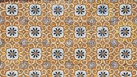 Fachada centenária em uma casa velha, detalhe do mosaico Imagens de Stock Royalty Free