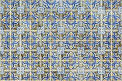 Fachada centenária em uma casa velha, detalhe do mosaico Foto de Stock Royalty Free