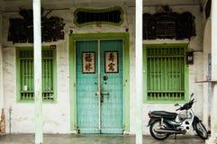 Fachada chinesa do shophouse, George Town, Penang, Malásia Foto de Stock