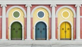 Fachada clássica colorida ilustração royalty free