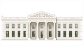 A fachada clássica de uma construção pública Imagem de Stock Royalty Free