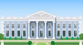 A fachada clássica de uma construção pública Imagens de Stock