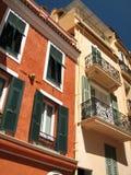 Fachada coloreada de la casa Fotografía de archivo libre de regalías