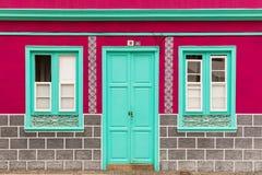 Fachada colorida da casa Fotografia de Stock Royalty Free