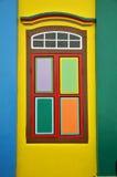 Fachada colorida da construção em pouca Índia, Singapura Foto de Stock Royalty Free