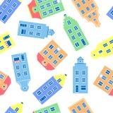 Fachada colorida de casas do burgher, ilustração do vetor isolada no fundo branco, representante do europeu ilustração stock