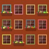 Fachada colorida del edificio Foto de archivo libre de regalías