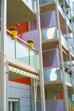 Fachada colorida do balcão Imagem de Stock