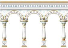 Fachada con el ornamento stock de ilustración