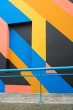 Fachada con la pintura geométrica Fotografía de archivo libre de regalías
