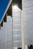 Fachada con los paneles solares Imagenes de archivo