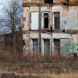 Fachada constructiva abandonada Fotos de archivo