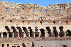 Fachada da arena de Colosseum, Roma Fotos de Stock