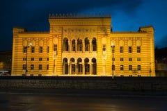 A fachada da biblioteca nacional Fotos de Stock Royalty Free