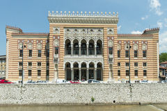 A fachada da biblioteca nacional Fotografia de Stock