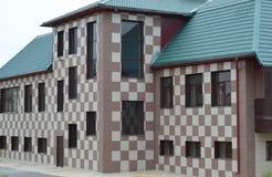 Fachada da casa, cores da xadrez Fotos de Stock Royalty Free