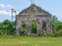 Fachada da casa da degradação em Cuba Fotografia de Stock Royalty Free