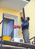 Fachada da casa da pintura Fotos de Stock