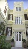 Fachada da casa velha renovada Israel Fotografia de Stock