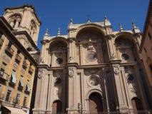 Fachada da catedral imagem de stock