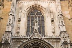 Fachada da catedral, Aix-en-Provence; França Foto de Stock Royalty Free