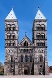 Fachada da catedral de Lund, Sweden Foto de Stock Royalty Free