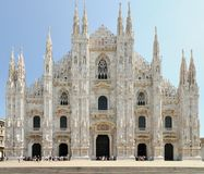 Fachada da catedral de Milão (domo), Lombardy, Italy foto de stock