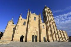 Fachada da catedral de Segovia na Espanha Fotos de Stock