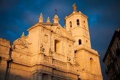 Fachada da catedral de Valladolid, Spain imagem de stock royalty free