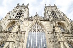 Fachada da catedral de York imagens de stock royalty free