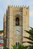 Fachada da catedral em Lisboa Imagens de Stock Royalty Free