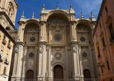 Fachada da catedral, Granada Imagens de Stock