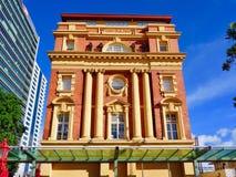 Fachada da construção da balsa de Auckland imagem de stock