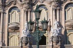 Fachada da construção de Lorca Theater em Havana, Cuba Fotos de Stock