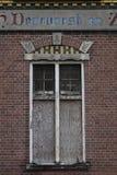 Fachada da construção holandesa velha foto de stock